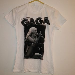 New Small Lady Gaga Middle Finger T